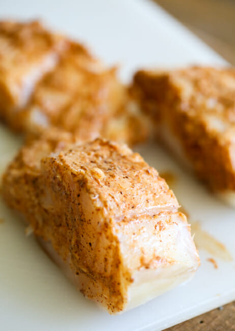 seasoned cod for fish tacos